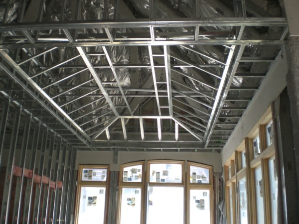 Metal Framed Coffered Ceiling